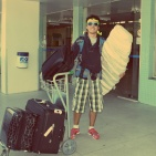 Arriving in Brazil with tons of suitcases, PLU Airport, May 2011