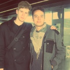 Saying goodbye to Philipp at the BOD Airport, April 2012