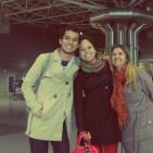 Saying goodbye at the LIS Airport, May 2012