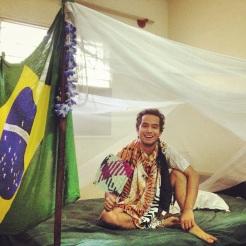 My room with my mosquito net | Meu quarto com meu mosquiteiro