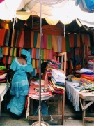All the fabric at the market | Os tecidos no mercado