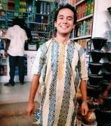 Trying on my boubou | Experimentando meu boubou