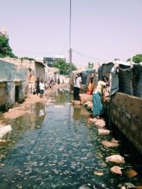 Their flooded street