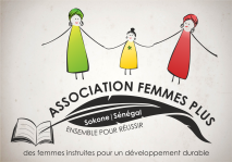 "The logo I created for the Senegalese organization ""Femmes Plus"""